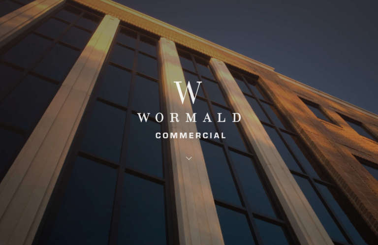 screenshot of wormaldcommercial.com web design